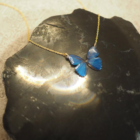 VERY OCEAN BLUE [Necklace/ Alloy chain]
