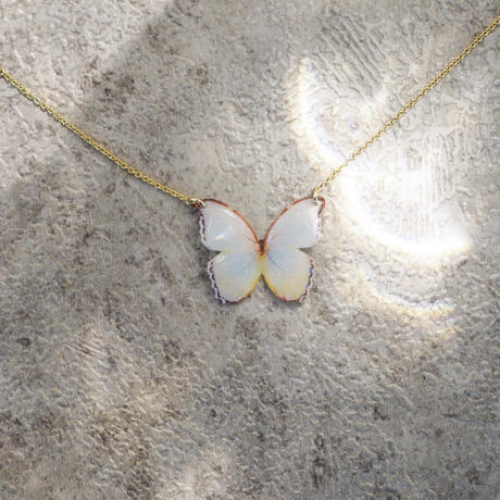 Antique White Butterfly [Necklace/ 14KGF]