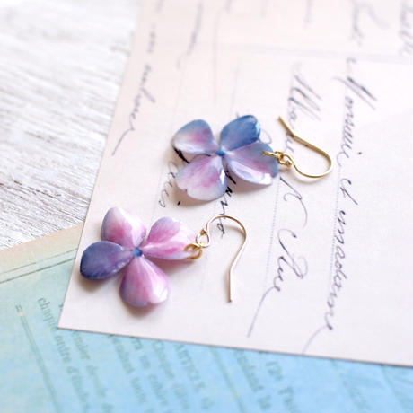 Mixed color Hydrangea [Pierced Or Clip-on]