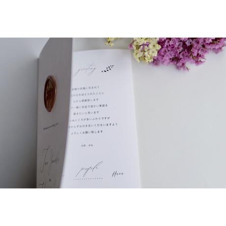 席次表|リーフレット ‖ Natural & Garden |Wedding seating list 10枚1セット