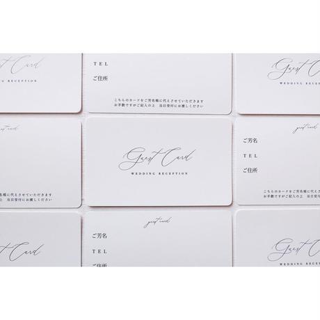 [招待状]ゲストカード guest card 10枚1セット