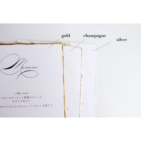 テーブルナンバー|old style / moon light| paper with deckle edge|12枚セット