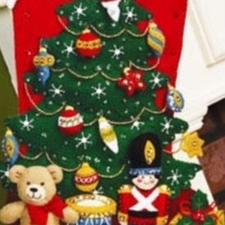 「UNDER THE TREE」Bucilla ブシラ クリスマス ハンドメイド フェルト くつ下 ソックス  ストッキング キット