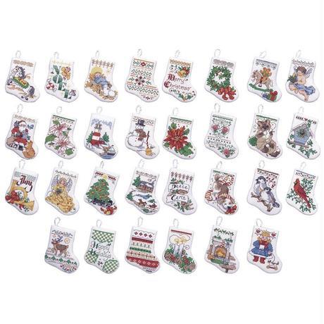 「Tiny Stocking」Bucilla ブシラ クロスステッチ クリスマス ハンドメイド フェルト オーナメント キット
