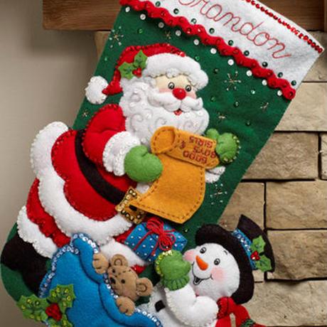 「SANTA'S LIST」Bucilla ブシラ クリスマス ハンドメイド フェルト くつ下 ソックス  ストッキング キット