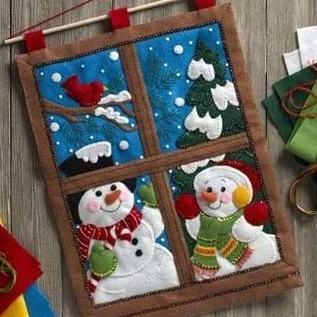 「WINTER WINDOW WALL HANGING」Bucilla ブシラ クリスマス ハンドメイド フェルト キット