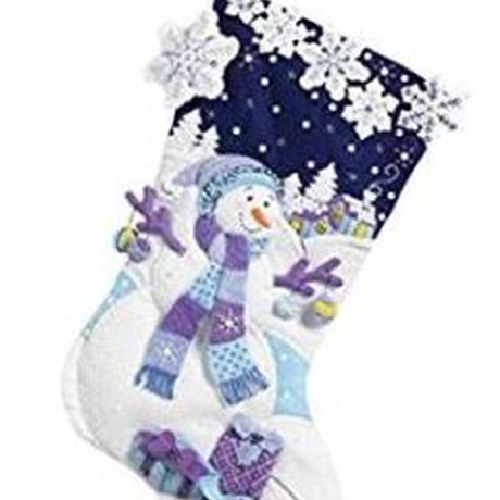 「Frosty Night」Bucilla ブシラ クリスマス ハンドメイド フェルト くつ下 ソックス  ストッキング キット