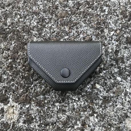 オリヴィアカーフ(グレー) 折りたたみ式コインケース