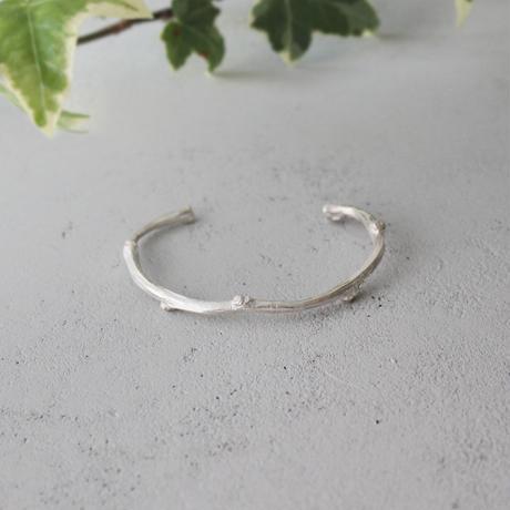 枝のバングル【 silver 】
