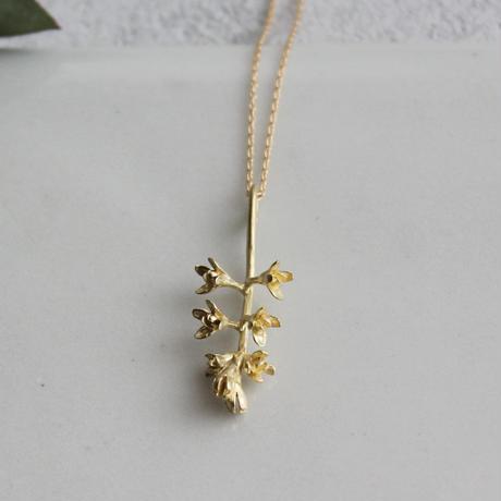 K18 オリーブの花のネックレス