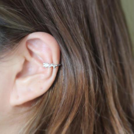 ミモザのイヤーカフ [ silver 片耳 ]