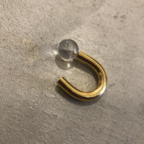 PORTE BONHEUR  - quartz bowls  ring -