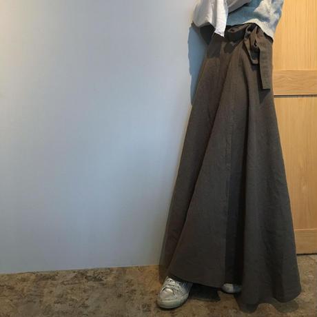 花屋の作る洋服 =long skirt= khaki