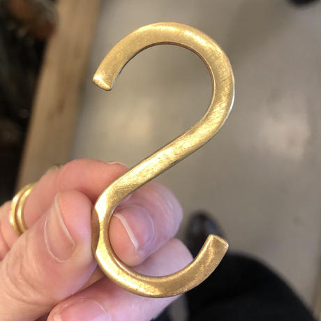 Brass S字フック   Sサイズ