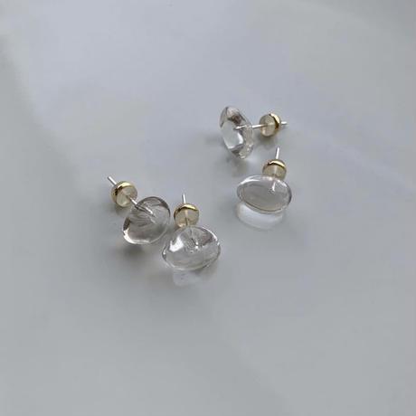 PORTE BONHEUR  - petit quartz piercing-