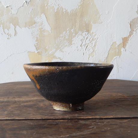 鶴野啓司  黒釉碗
