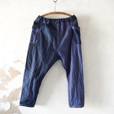 takuroh shirafuji Chao Phraya[Sarouel Pants(Soft Denim x Corduroy Denim) :  Women]