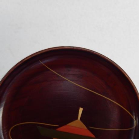 antiques  漆器 蒔絵 小皿 【まわる駒】