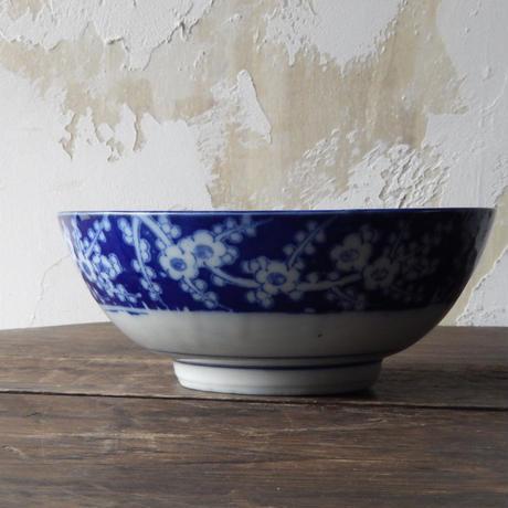 antiques 印判 花柄 7寸鉢