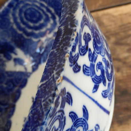 antiques  伊万里 染付  6.5寸鉢