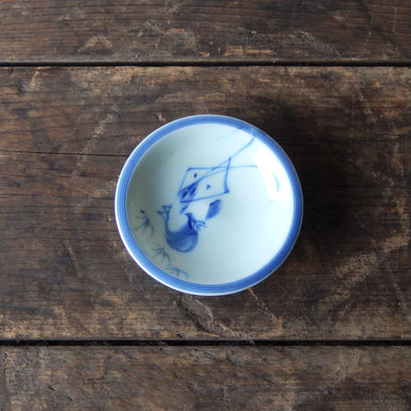 antiques 九谷 染付 豆皿