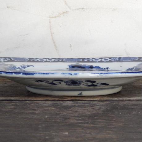 antiques  印判 オーバル 皿