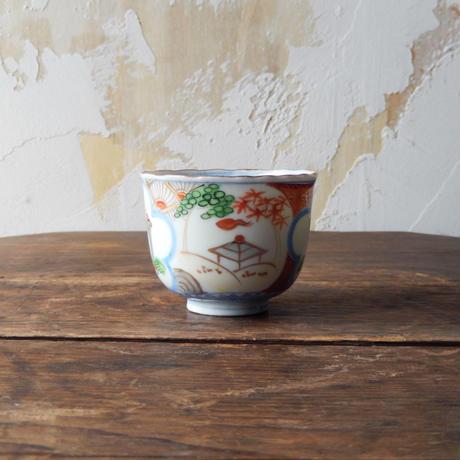 antiques  印判 輪花 蕎麦猪口
