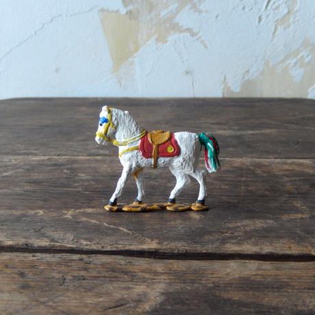 antiques 白い馬の置物