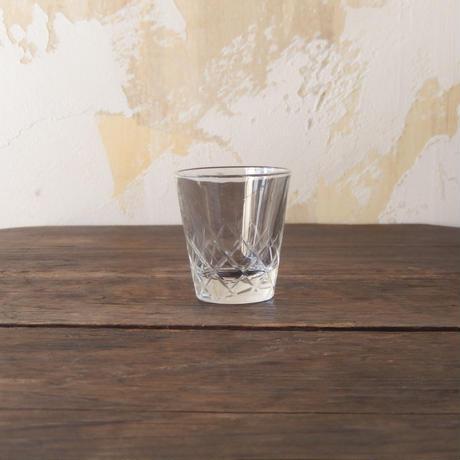 antiques アデリア 矢来カットショットグラス