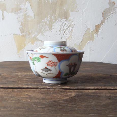antiques  印判 蓋付き碗