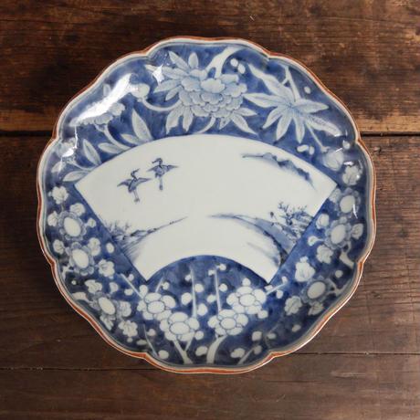 antiques  染付 6.8寸皿