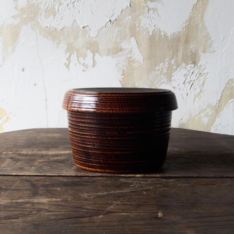 antiques 山中漆器 KUUKI  Coverd Bowl