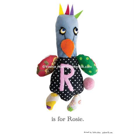 【R】【好きな名前を入れられます】ハギレ鳥のアートプリント