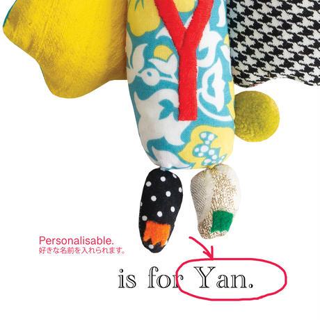 【Y】【好きな名前を入れられます】ハギレ鳥のアートプリント