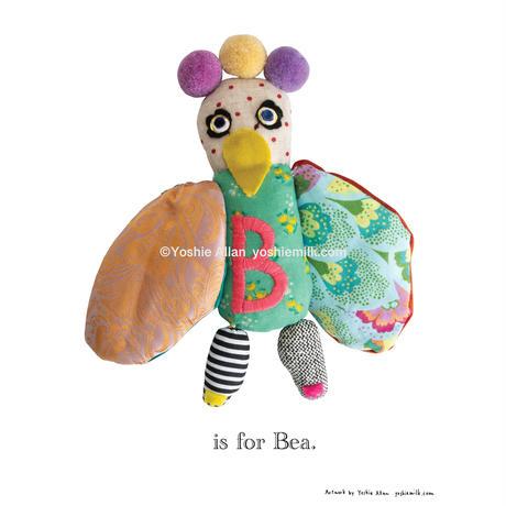 【B】【好きな名前を入れられます】ハギレ鳥のアートプリント