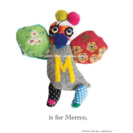 【M】【好きな名前を入れられます】ハギレ鳥のアートプリント