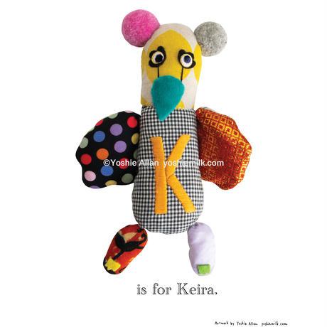 【K】【好きな名前を入れられます】ハギレ鳥のアートプリント