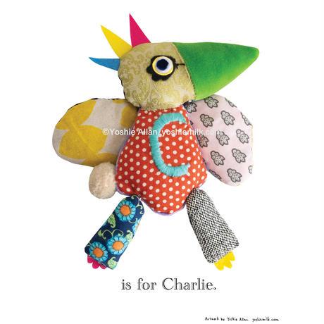 【C】【好きな名前を入れられます】ハギレ鳥のアートプリント