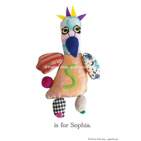 【S】【好きな名前を入れられます】ハギレ鳥のアートプリント