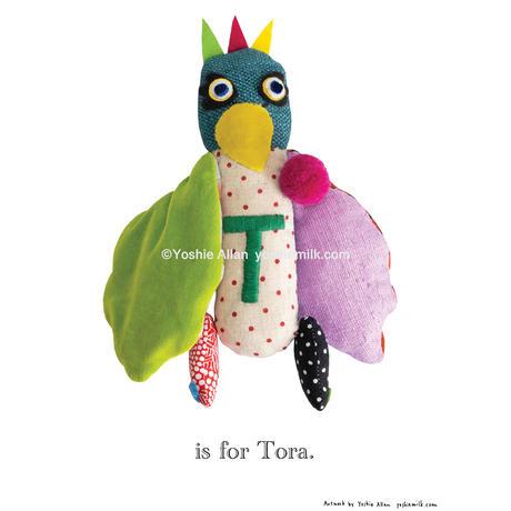 【T】【好きな名前を入れられます】ハギレ鳥のアートプリント