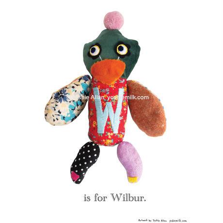 【W】【好きな名前を入れられます】ハギレ鳥のアートプリント