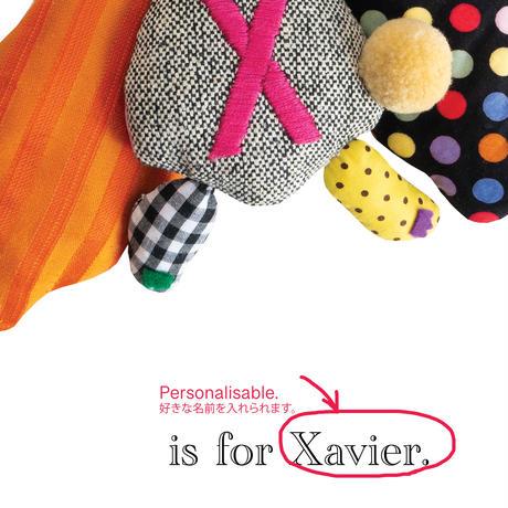 【X】【好きな名前を入れられます】ハギレ鳥のアートプリント