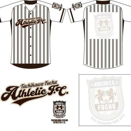 立川・府中アスレティックFC 応援ベースボールシャツ(ホワイト)番号・ネーム加工無し