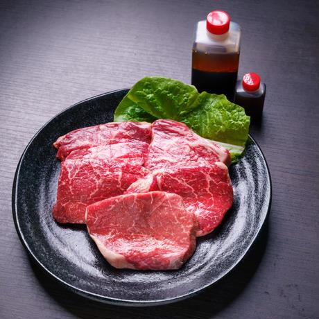 健康和牛あか牛 極上モモステーキ 120g×5 秘伝のタレ付き