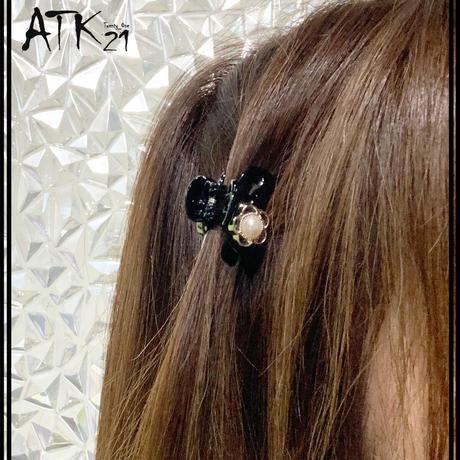 クロスリボン パール お花 ストーン ミニバンスクリップ 前髪留め 小さ目 しっかりホールド ヘアアレンジのポイント 髪留め 簡単ヘアアレンジ レディース ヘアアクセサリー