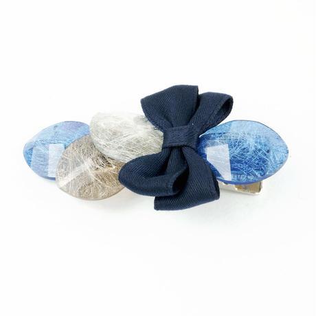 カラー ストーン オーバル リボン ヘアクリップ 簡単ヘアアレンジ フォーククリップ  前髪 髪留め ヘアアクセサリー:HD160202
