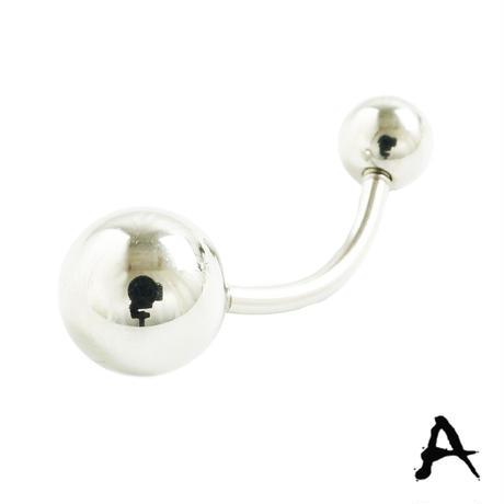 片耳用(1個売り)シンプルボールヘッド バナナバーベル インダストリアル  カーブバーベル ネジタイプ ボディピアス サージカルステンレス316L メンズ レディース ユニセックス アクセサリー