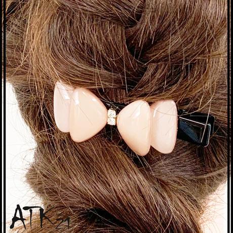 リボン Ribbon ヘアクリップ クリップピン ダッカール シンプル まとめ髪のポイント 髪留め レディース ヘアアクセサリー