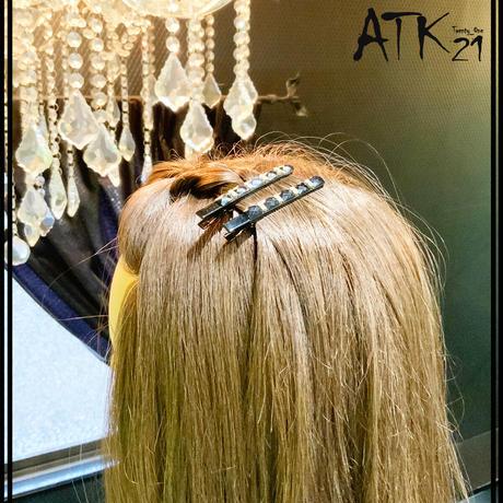 ブラック ブラックゴールド シンプル 上品  ヘアクリップ ダッカールクリップ 髪留め レディース きれい目 ヘアアクセサリー