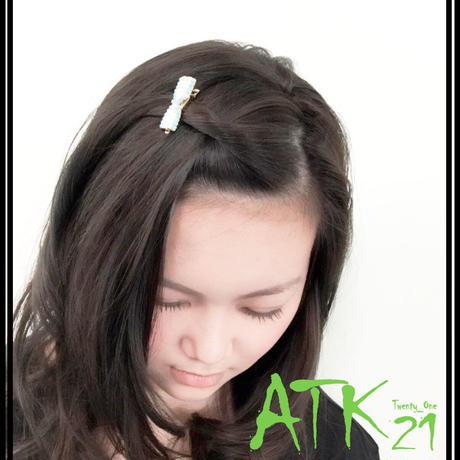 キラキラ ミニ ヘアクリップ ヘアピン 髪留め 前髪 ラインストーン ビジュー レディース ヘアアクセサリー:HD170402